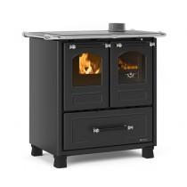 La Nordica Extraflame - Cucina a legna -  Modello Family 4,5 -Rivestimento nero-antracite - Codice 7014001