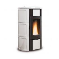 La Nordica  Extraflame - TermoStufa a pellet aria - Modello Iside Idro  2.0  - Colore Bianco - Codice 1274220