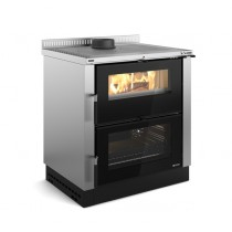 La Nordica Extraflame - Cucina a legna - Modello Verona XXL - Rivestimento Inox - Codice 7016240